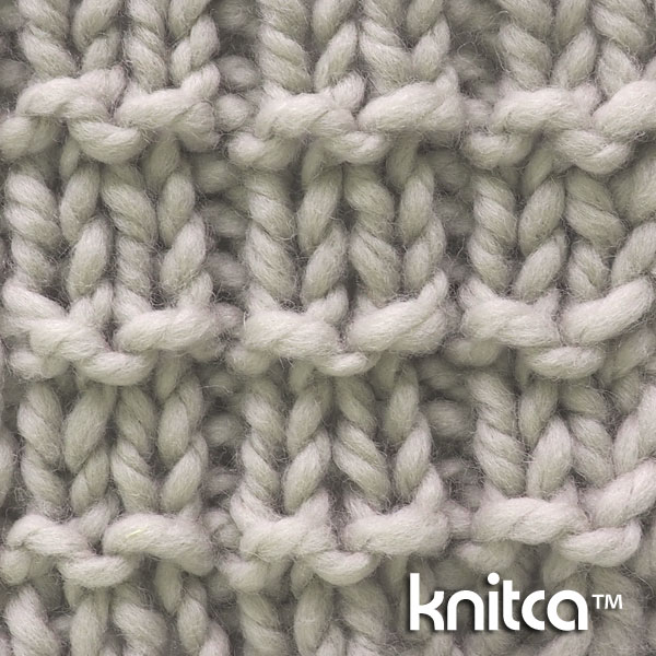 Knit and Purl Knitting Stitch Pattern