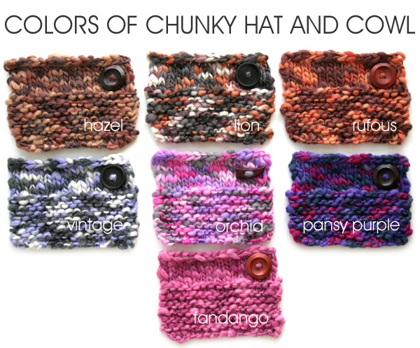 Colours of Chunky Hat and Cowl