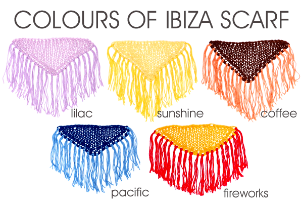 Colours of Ibiza Scarf