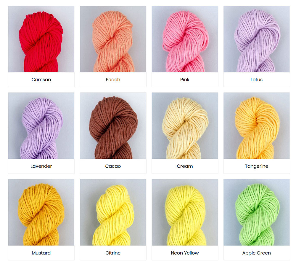 Colours of Bamboo Yarn