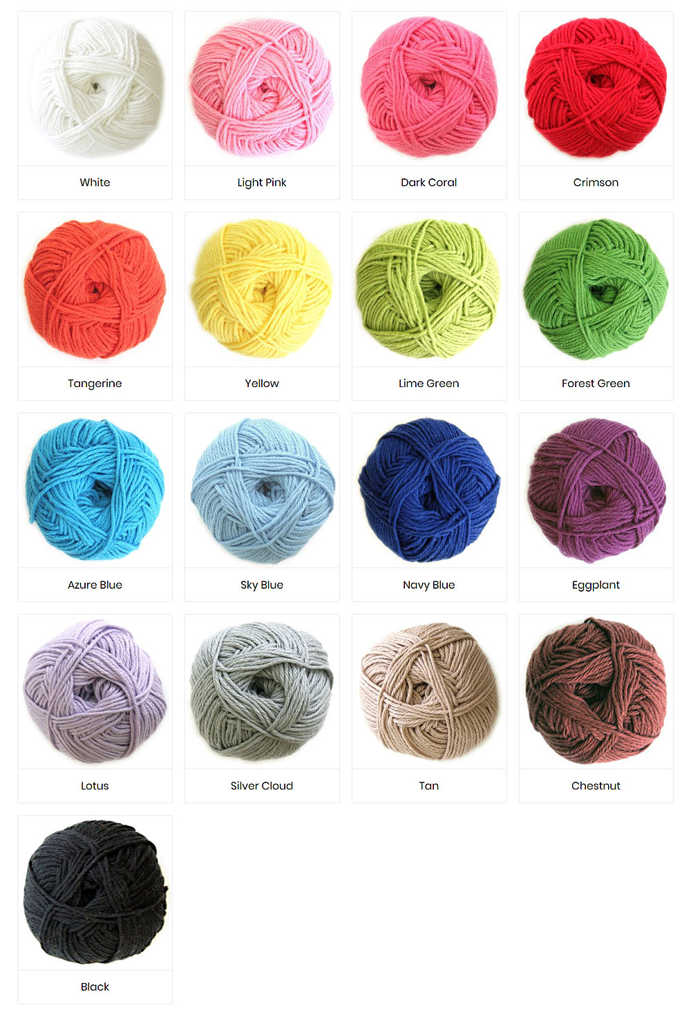 Colours of Cotton Yarn