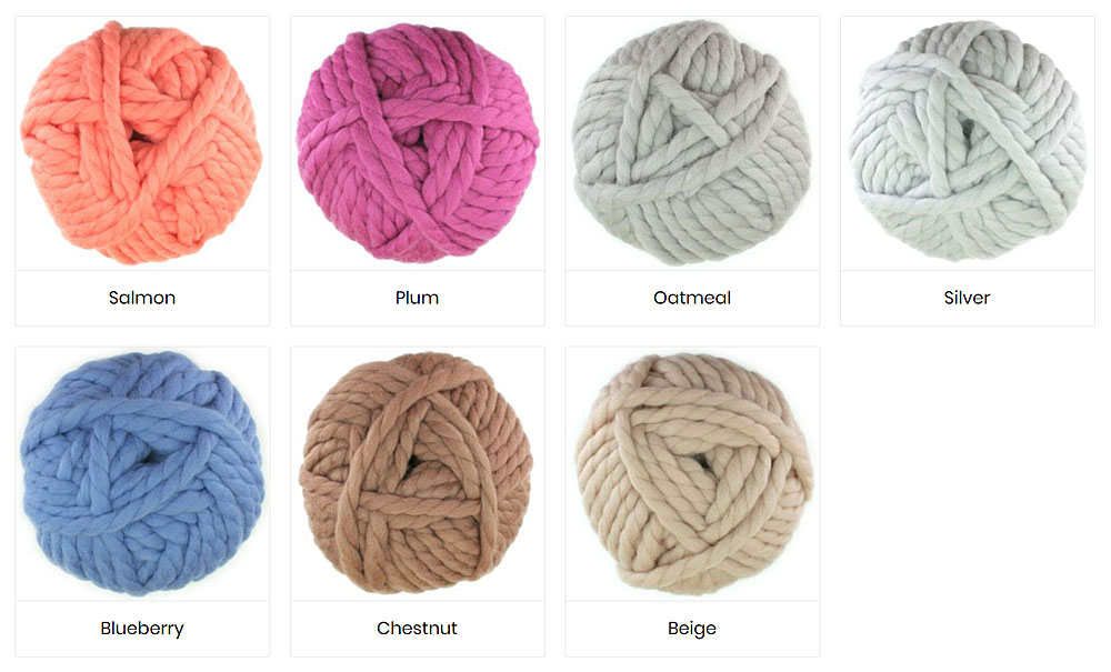 Colours of Super Chunky Yarn