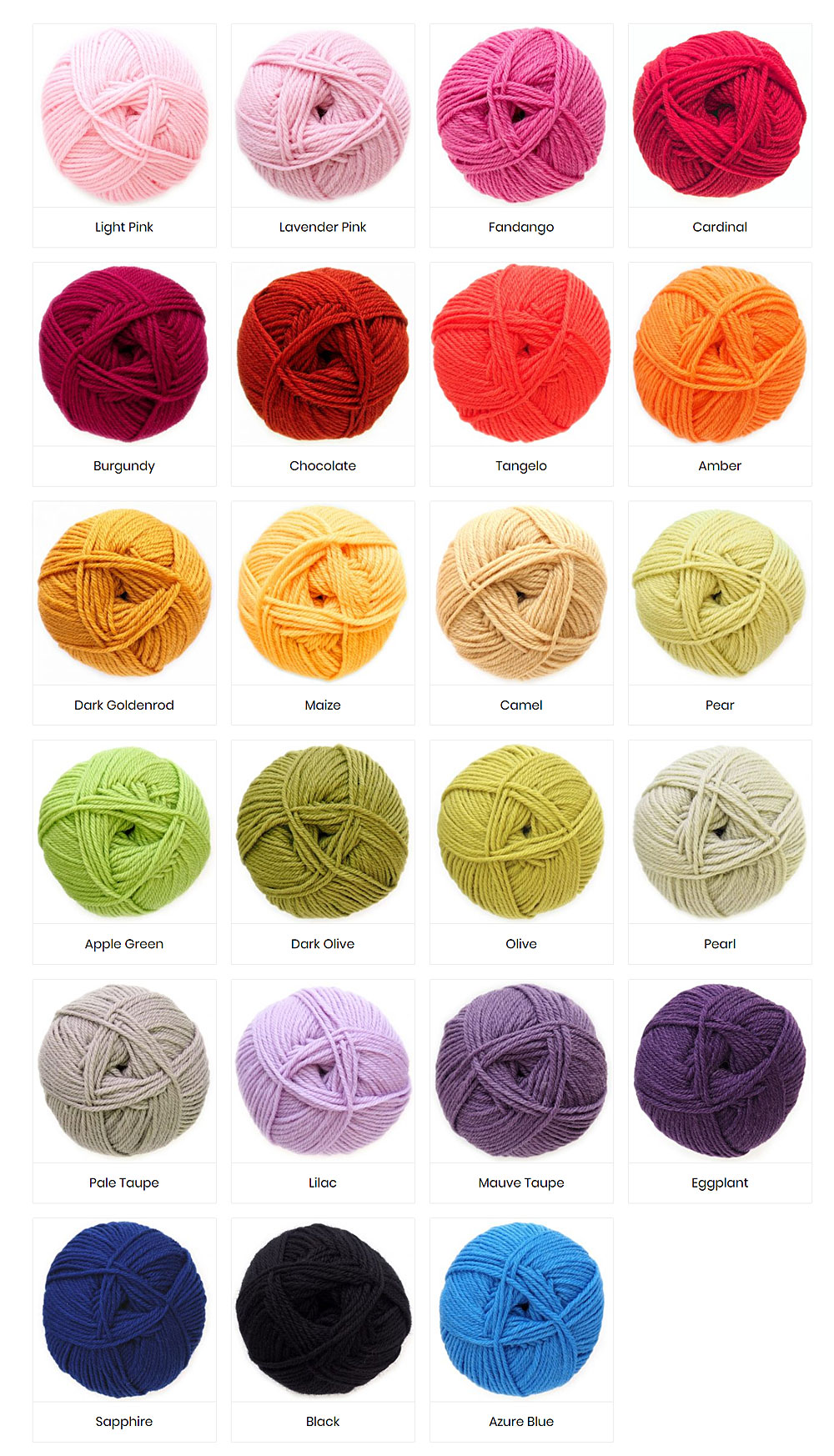 Colours of Woolly Warmth Yarn